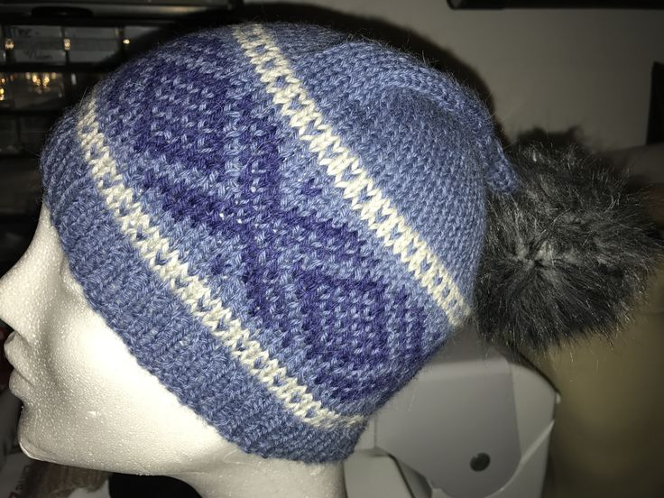 Knitted Marius hat for my youngest son.