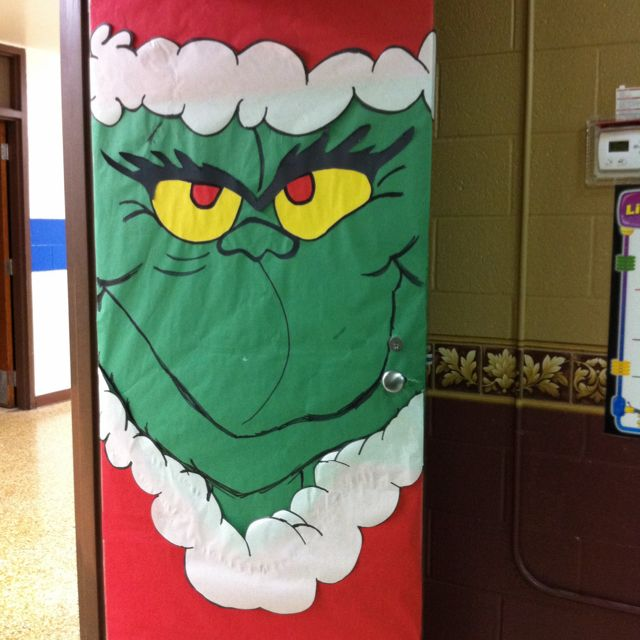 Christmas Decorations The Grinch: In An Effort To Avoid Recovering The Door Since Halloween