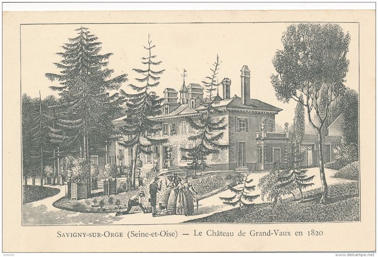 CPA 91 SAVIGNY SUR ORGE Le Château De Grand Vaux En 1820 - Savigny Sur Orge