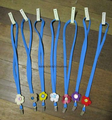 BaRb'n'ShEll Creations - Lanyards featuring Crochet flowers made by Shell