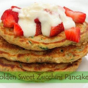 Golden Sweet Zucchini Pancakes