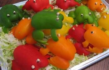The Foodies - Resources - Novelty and Fun Looking Foods - Grilled Pepper Frogs
