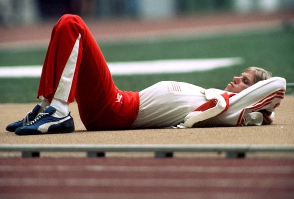 Greg Joy du Canada se prépare pour l'épreuve du saut en hauteur aux Jeux olympiques de Montréal de 1976. (Photo PC/AOC)