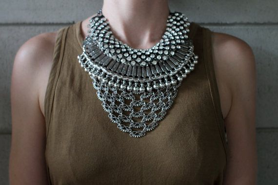 Brand New Design Handcrafted Statement Necklace: by Lacersuite