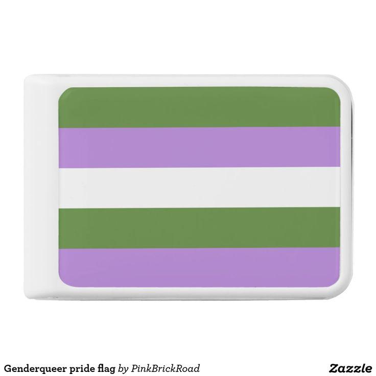Genderqueer pride flag power bank