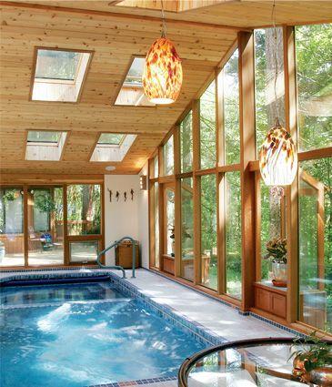 Cedar pool room addition john sramek remodeling lindal for Pool house additions
