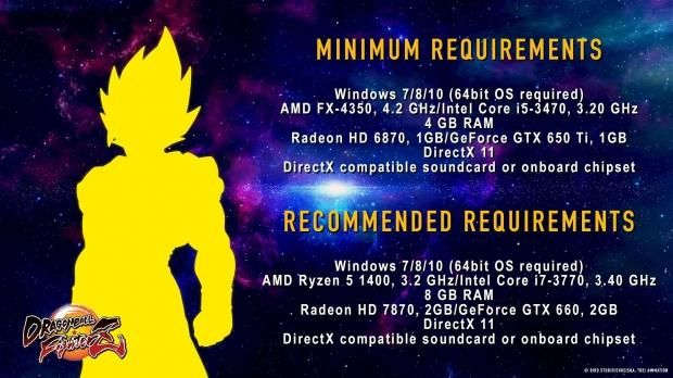 Dragon Ball FighterZ PC requirements revealed: Dragon Ball FighterZ PC requirements revealed:…