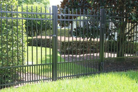 Aluminum Fencing Panel for pet containment from http://www.fence-depot.com.  We carry a large selection of aluminum fencing for pets of all sizes. This aluminum fence panel will keep even the smallest dog in your yard.
