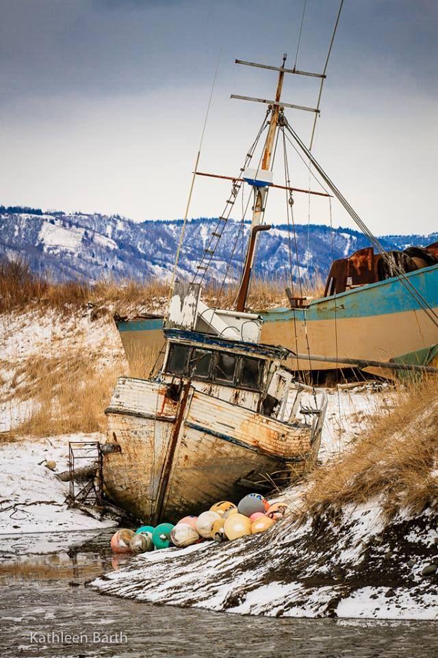 Old Boat in Homer Alaska