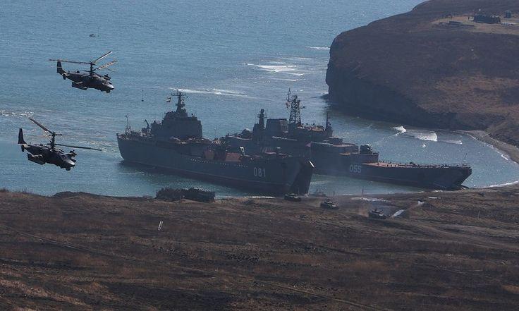 Учения морской пехоты Тихоокеанского флота в Приморье