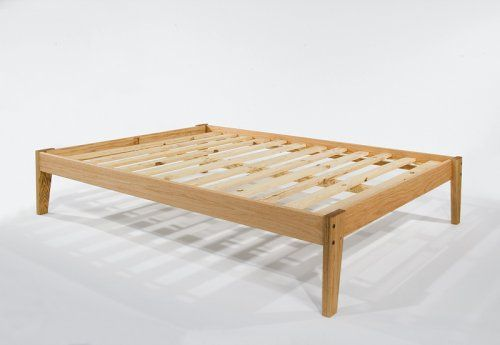 Amazon.com: Full Size - Solid OAK Wooden Platform Bed Frame-Beautiful Hand-rubbed Linseed Oil Finish-Made in USA: Furniture & Decor