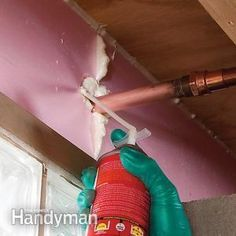 Insulate Basement Rim Joists - get the #DIY instructions: http://www.familyhandyman.com/basement/insulate-basement-rim-joists
