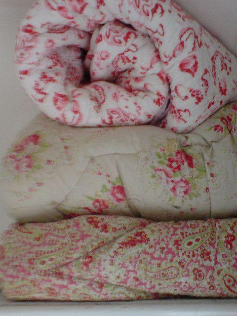 pink vintage eiderdowns