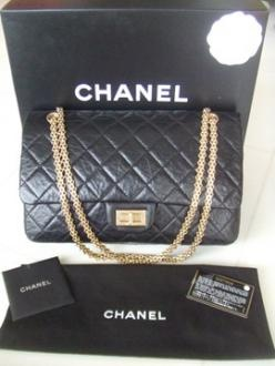 New Chanel Black 2.55 Reissue 227 Maxi Jumbo Handbag Bag Clutch