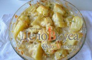 Картошка в духовке с сыром и сливками: Запекать до готовности