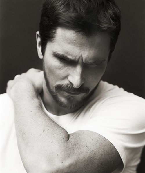 Christian Bale. Fell in love with him when I was in the 5th grade watching Newsies! And now he's Batman. Swoon.