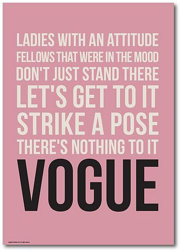 Madonna's lyrics to vogue