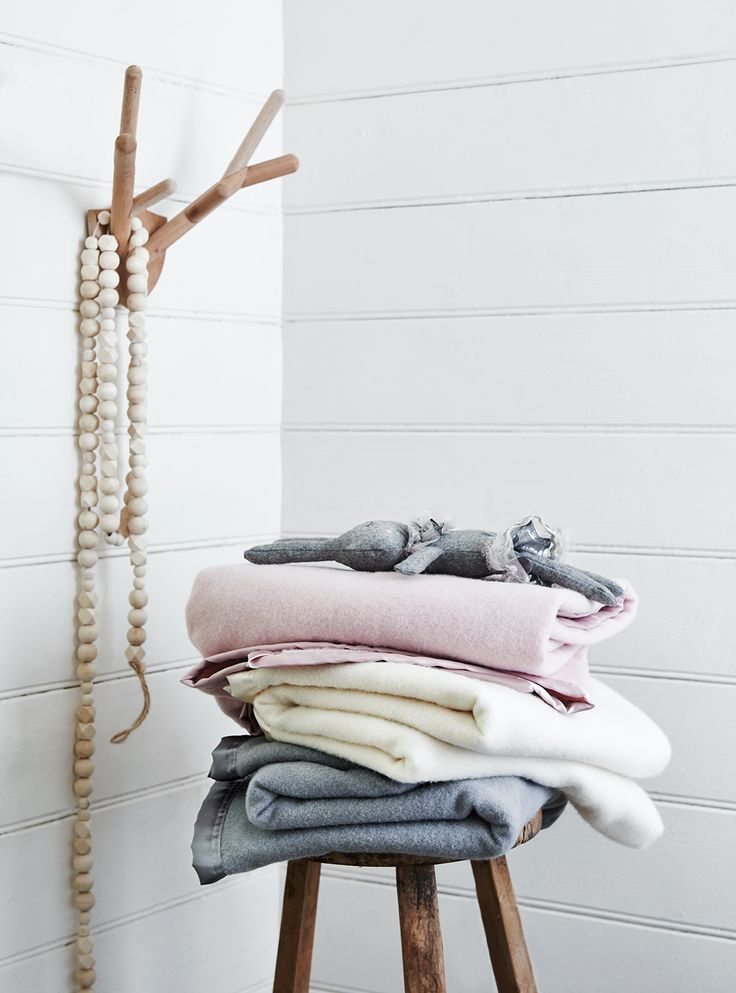 The beautiful pastel colours of the MiniJumbuk Wool Blankets. Photography by Lisa Cohen and styling by Beck Simon. #MiniJumbuk #blankets #wool #LisaCohen #BeckSimon #photography #kids #baby #cosy #warm