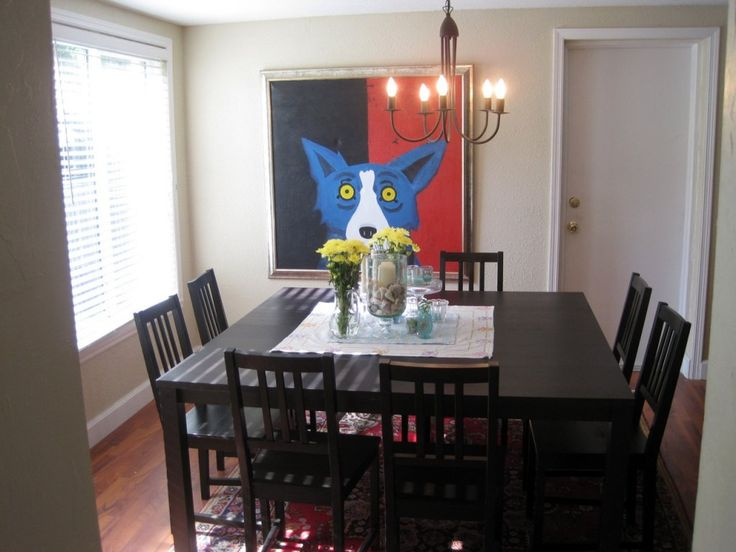Simple square dining room 1 dining table and for Small square dining room