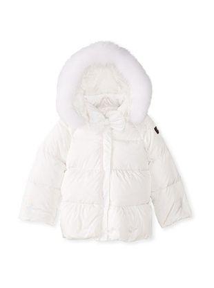 48% OFF Il Gufo Kid's Down Jacket with Fur Hood (Milk)