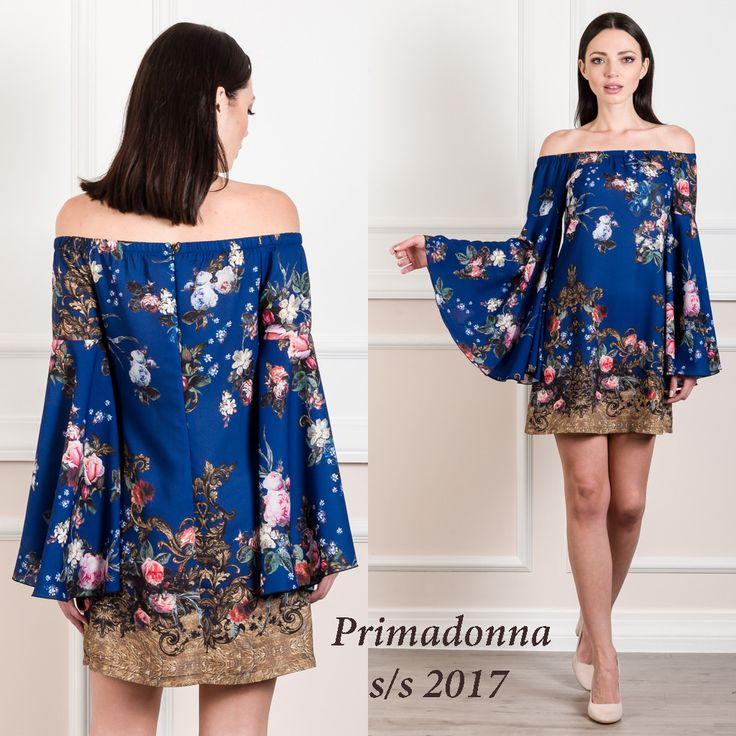 #Mini_floral_έξωμο_φόρεμα διαθέσιμο στο eshop http://www.primadonna.com.gr