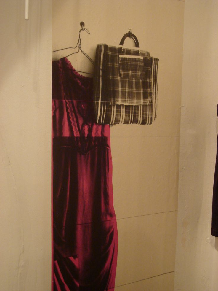 change room with dress stencil