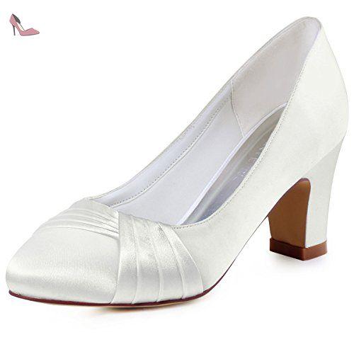 Elegantpark EP2006 Satin Bout Ferme Arc Glitte Plates Femme Chaussures de Mariage Rouge 43 rCKZZ