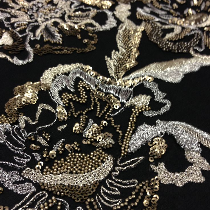 Bead embroidery from the Hand & Lock Embroidery archive, via…