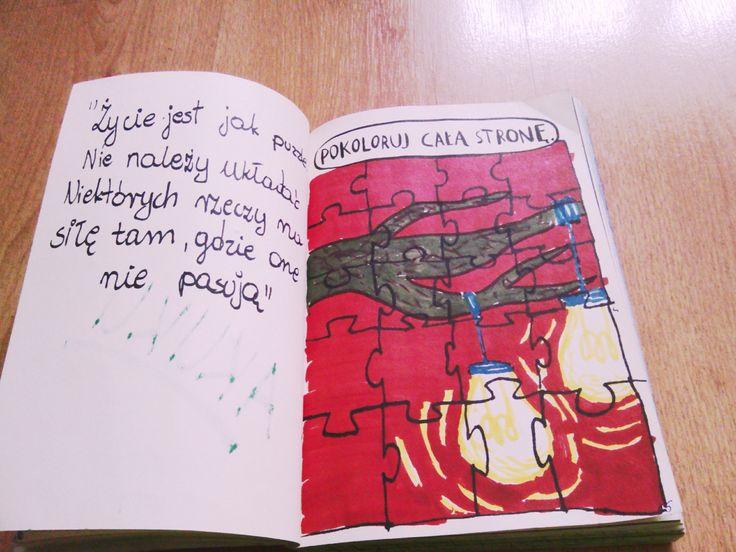 Podesłała Patrizia Kręgiel #zniszcztendziennikwszedzie #zniszcztendziennik #kerismith #wreckthisjournal #book #ksiazka #KreatywnaDestrukcja #DIY