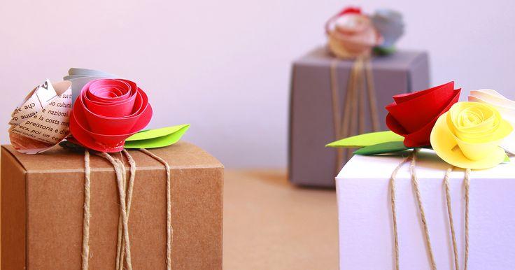 Cajas de regalo recicladas
