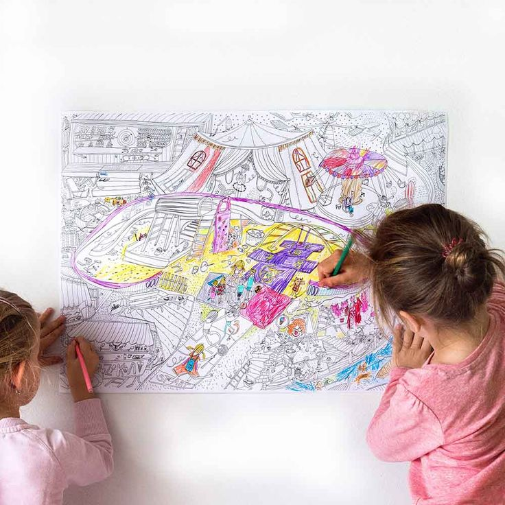 Town 3 posters for kids- drawing activity by pipasik.cz