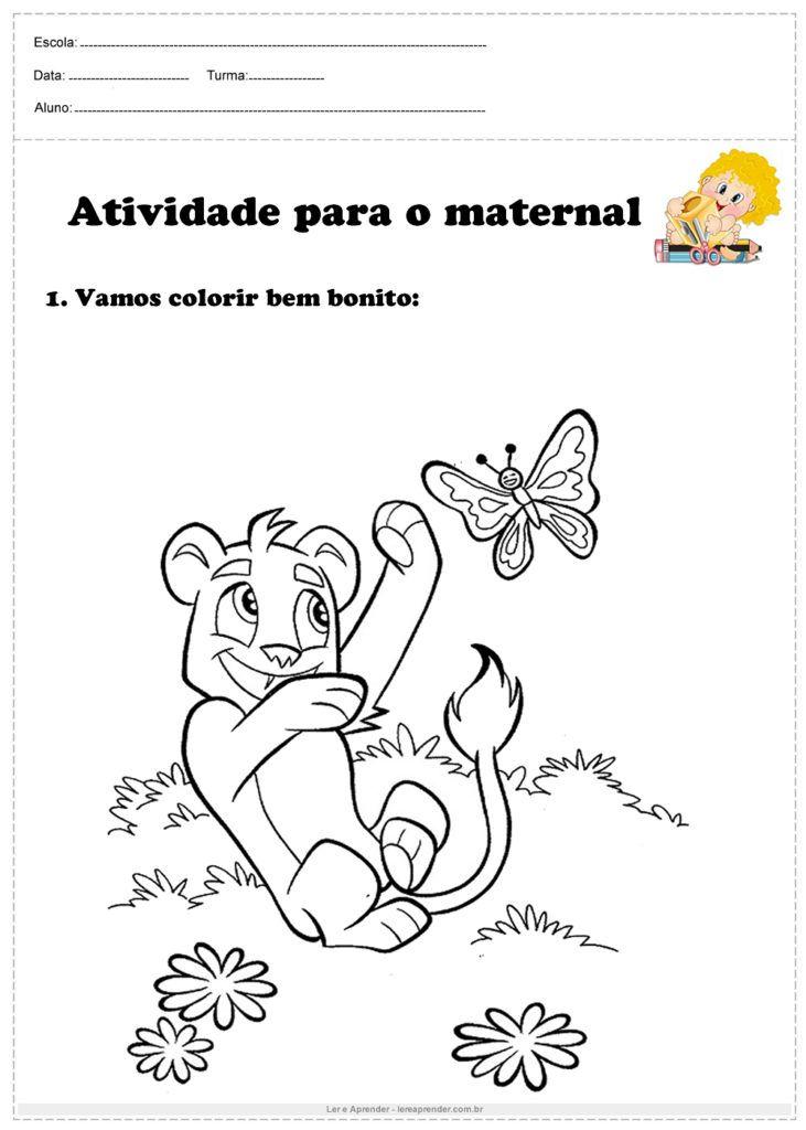 Atividade Para O Maternal Vamos Colorir Bem Bonito Com Imagens