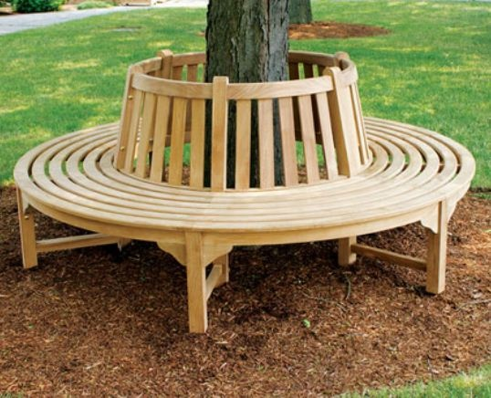 Kitchen Tables With Bench Seating | The Bench Is Comfortable Seating In The  Garden Circle Bench