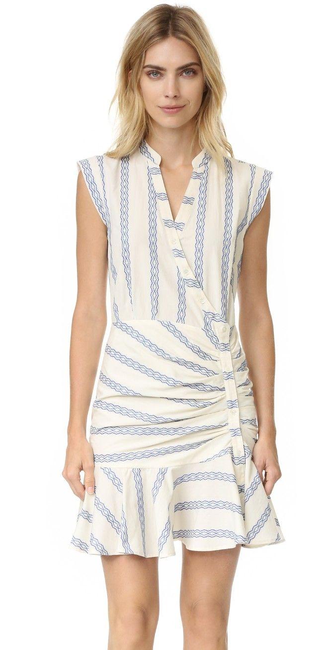 Veronica Beard Piece & Co Ruched Shirtdress | SHOPBOP
