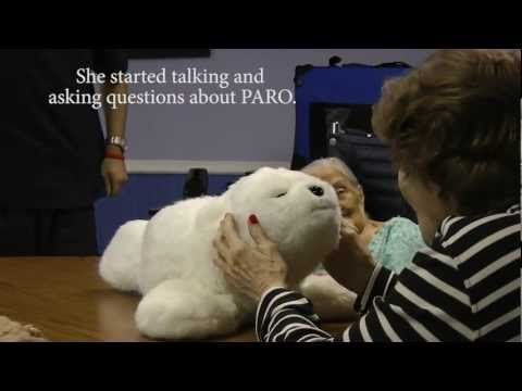 ▶ Robotic Seals Help Heal Japan's Elderly Tsunami Victims - YouTube