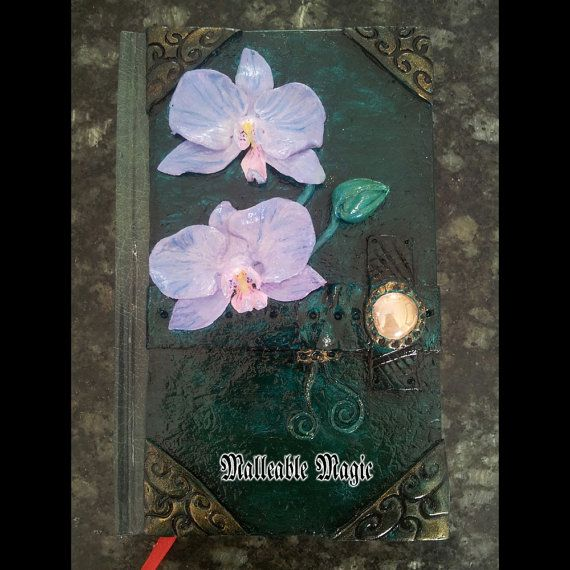 Polymer Clay Journal The Orchid by MalleableMagic on Etsy