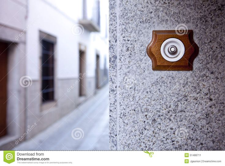 Ancient Style Doorbell Button Stock Photo - Image: 51488711