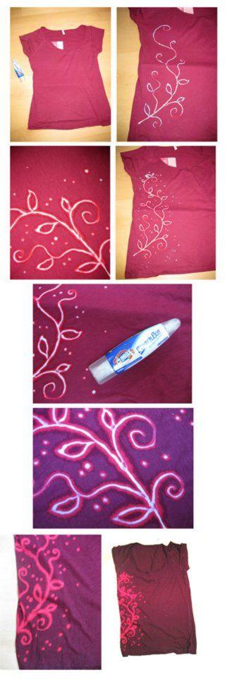 Bleach Pen T-Shirt DIY Design Idea