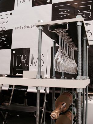 A custom version of CAVA for Black & White Drums