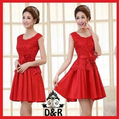Chic Dress  Ukuran All Size  P = 79 cm L = 43 cm  Bahan Brukat Furing + Saten   IDR. 75,000  ORDER > SMS : 085643087440