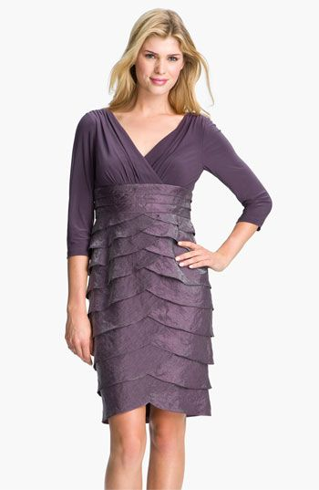 Adrianna Papell Tiered Surplice Dress available at #Nordstrom