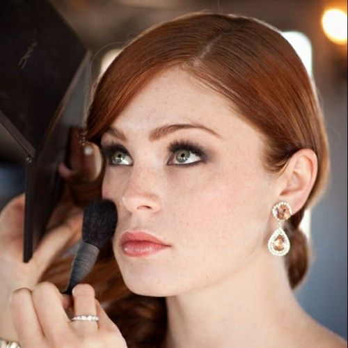 Wedding makeup looks for redheads! These are amazing looks for brides in 2014! #wedding #makeup #bride