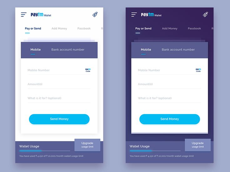 Check this cool paytm wallet redesign.  Hope you'll like it.  Press