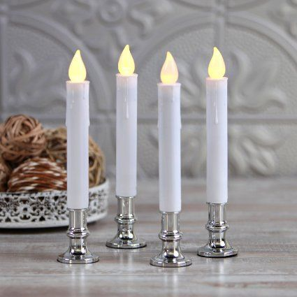 Lit Bethlehem Lights Window Candles in your window, living or dining room to decorate your home with candles creating soft Bethlehem lighting for Christmas.