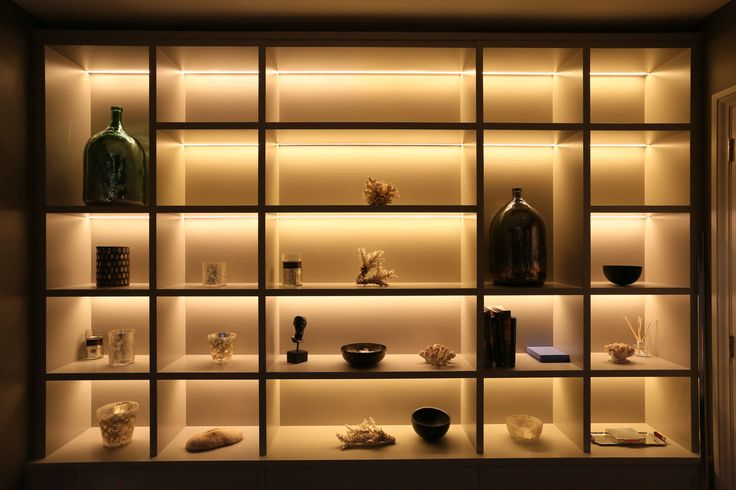 Shelf and display lighting using LED contour strips | Lighting design and light fittings by John Cullen Lighting