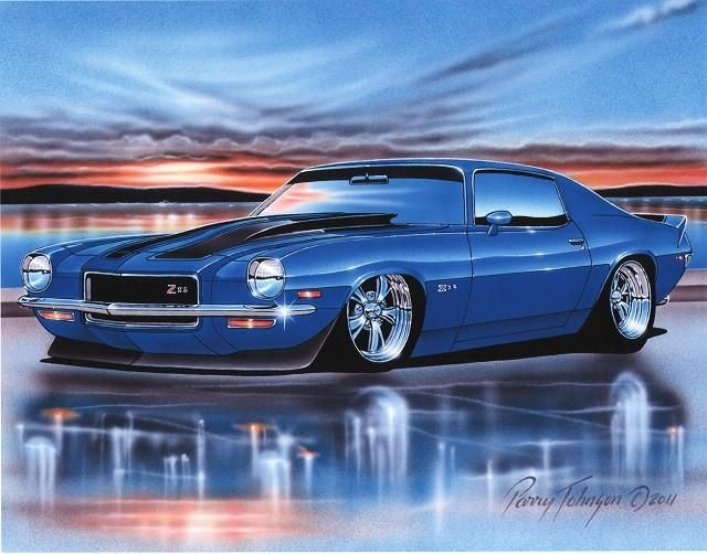 1970 1971 1972 1973 Chevy Camaro Z28 Muscle Car Art Print 11x14 70 71 72 73