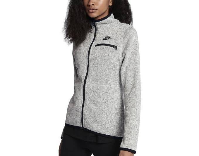 6c010ff966a6 Nike Damen Trainingsjacke Kapuzenjacke NSW HOODIE FZ SSNL grau schwarz Jetzt  bestellen unter  ...