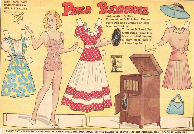 The Paper Collector: Paper Playhouse, Funky Paperdolls ...