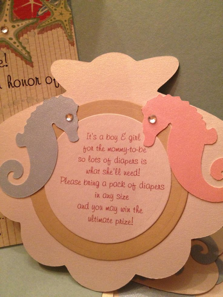 baby shower invitation for twins%0A diaper raffle insert for a sea themed baby shower invite for twins