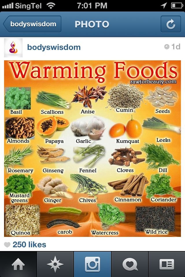 Traditional Chinese Medicine Warming Foods  www.thehotmombod.com www.facebook.com/thehotmombod